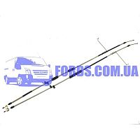 7T162A603AD Трос ручника  FORD CONNECT 2002-2013 (-ABS) DP GROUP