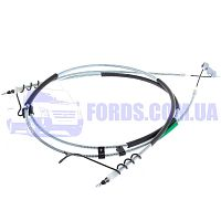 7T162A603DD Трос ручника FORD CONNECT 2002-2013 (+ABS/LONG BASE/DISK) ECEM